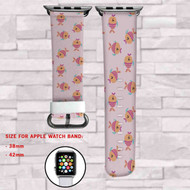 Fish Pattern Custom Apple Watch Band Leather Strap Wrist Band Replacement 38mm 42mm