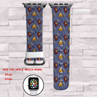 Gravity Falls Bill Chiper and Book Custom Apple Watch Band Leather Strap Wrist Band Replacement 38mm 42mm