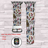 Gravity Falls Custom Apple Watch Band Leather Strap Wrist Band Replacement 38mm 42mm