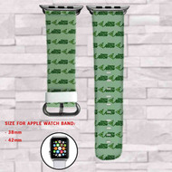Green Arrow Custom Apple Watch Band Leather Strap Wrist Band Replacement 38mm 42mm