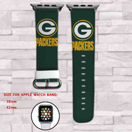 Green Bay Packers Custom Apple Watch Band Leather Strap Wrist Band Replacement 38mm 42mm