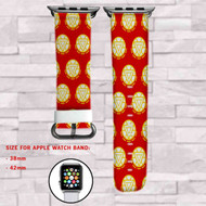 Iron Man The Avengers Superhero Custom Apple Watch Band Leather Strap Wrist Band Replacement 38mm 42mm