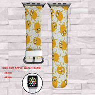 Jake Adventure Time Custom Apple Watch Band Leather Strap Wrist Band Replacement 38mm 42mm