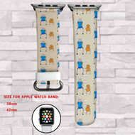 Jake and Finn Adeventure Time Custom Apple Watch Band Leather Strap Wrist Band Replacement 38mm 42mm