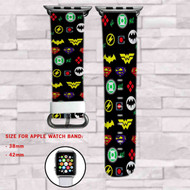 Justice League Custom Apple Watch Band Leather Strap Wrist Band Replacement 38mm 42mm