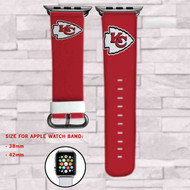 Kansas City Chiefs Custom Apple Watch Band Leather Strap Wrist Band Replacement 38mm 42mm