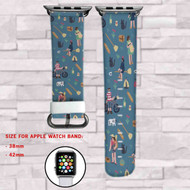 Kiki's Delivery Service Custom Apple Watch Band Leather Strap Wrist Band Replacement 38mm 42mm
