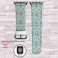 Love Mickey and Minnie Mouse Custom Apple Watch Band Leather Strap Wrist Band Replacement 38mm 42mm