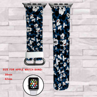 Mickey Mouse 2 Custom Apple Watch Band Leather Strap Wrist Band Replacement 38mm 42mm