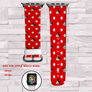 Mickey Mouse and Minnie Mouse Disney Custom Apple Watch Band Leather Strap Wrist Band Replacement 38mm 42mm