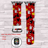 Mickey Mouse Body Pattern Disney Custom Apple Watch Band Leather Strap Wrist Band Replacement 38mm 42mm
