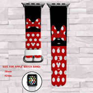 Minnie Mouse Body Disney Custom Apple Watch Band Leather Strap Wrist Band Replacement 38mm 42mm
