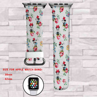 Minnie Mouse Vintage Custom Apple Watch Band Leather Strap Wrist Band Replacement 38mm 42mm