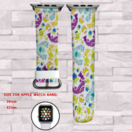 Monster Inc Custom Apple Watch Band Leather Strap Wrist Band Replacement 38mm 42mm