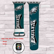Philadelphia Eagles Custom Apple Watch Band Leather Strap Wrist Band Replacement 38mm 42mm