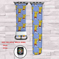 Pikachu Pokemon Custom Apple Watch Band Leather Strap Wrist Band Replacement 38mm 42mm