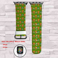 Pizza Teenage Mutant Ninja TUrtles Custom Apple Watch Band Leather Strap Wrist Band Replacement 38mm 42mm