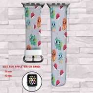 Pokemon Charmander Squirtle Custom Apple Watch Band Leather Strap Wrist Band Replacement 38mm 42mm