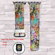 Rick and Morty 2 Custom Apple Watch Band Leather Strap Wrist Band Replacement 38mm 42mm