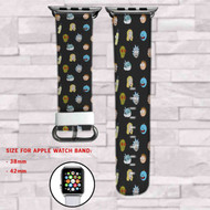 Rick and Morty 3 Custom Apple Watch Band Leather Strap Wrist Band Replacement 38mm 42mm