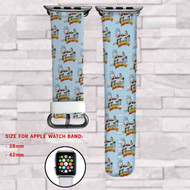 Rick and Morty Custom Apple Watch Band Leather Strap Wrist Band Replacement 38mm 42mm