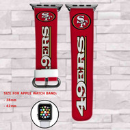 San Francisco 49ers Custom Apple Watch Band Leather Strap Wrist Band Replacement 38mm 42mm