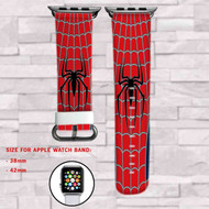 Spiderman Marvel Superheroes Custom Apple Watch Band Leather Strap Wrist Band Replacement 38mm 42mm