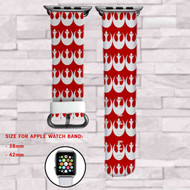 Star Wars Rebel Alliance Custom Apple Watch Band Leather Strap Wrist Band Replacement 38mm 42mm
