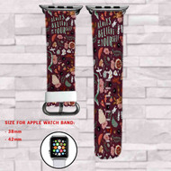 Studio Ghibli Always Believe in Your Self Custom Apple Watch Band Leather Strap Wrist Band Replacement 38mm 42mm