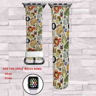 Studio Ghibli Pattern Custom Apple Watch Band Leather Strap Wrist Band Replacement 38mm 42mm