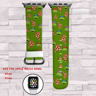 Teenage Mutant Ninja Turtles Pizza Custom Apple Watch Band Leather Strap Wrist Band Replacement 38mm 42mm