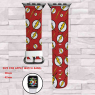 The Flash DC Comics Superheroes Custom Apple Watch Band Leather Strap Wrist Band Replacement 38mm 42mm