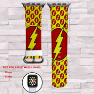 The Flash Superheroes DC Comics Custom Apple Watch Band Leather Strap Wrist Band Replacement 38mm 42mm