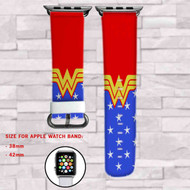 Wonder Woman DC Comics Superheroes Custom Apple Watch Band Leather Strap Wrist Band Replacement 38mm 42mm