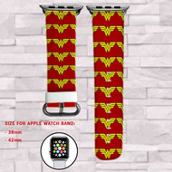 Wonder Woman Custom Apple Watch Band Leather Strap Wrist Band Replacement 38mm 42mm