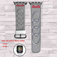 Audi Car Custom Apple Watch Band Leather Strap Wrist Band Replacement 38mm 42mm