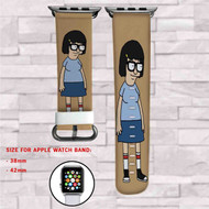 Bob's Burgers Tina Belcher Custom Apple Watch Band Leather Strap Wrist Band Replacement 38mm 42mm