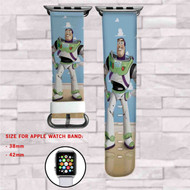 Buzz Lightyear Toy Story Custom Apple Watch Band Leather Strap Wrist Band Replacement 38mm 42mm