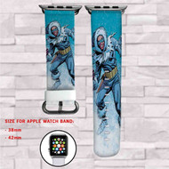 Captain Cold DC Comics Custom Apple Watch Band Leather Strap Wrist Band Replacement 38mm 42mm
