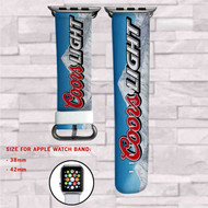 Coors Light Beer Custom Apple Watch Band Leather Strap Wrist Band Replacement 38mm 42mm