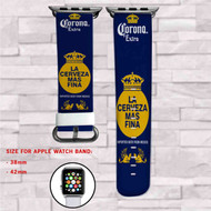 Corona Extra Beer Custom Apple Watch Band Leather Strap Wrist Band Replacement 38mm 42mm