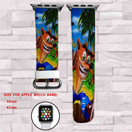 Crash Bandicoot Custom Apple Watch Band Leather Strap Wrist Band Replacement 38mm 42mm