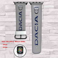 Dacia Car Custom Apple Watch Band Leather Strap Wrist Band Replacement 38mm 42mm