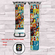 Disney Dreamworks All Characters Custom Apple Watch Band Leather Strap Wrist Band Replacement 38mm 42mm