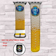 Efes Pilsen Beer Custom Apple Watch Band Leather Strap Wrist Band Replacement 38mm 42mm