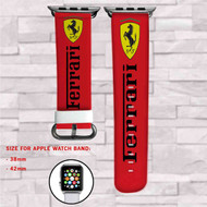 Ferrari Car Custom Apple Watch Band Leather Strap Wrist Band Replacement 38mm 42mm