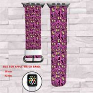 Gastly Pokemon Custom Apple Watch Band Leather Strap Wrist Band Replacement 38mm 42mm