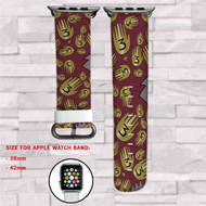 Gravity Falls Book 3 Custom Apple Watch Band Leather Strap Wrist Band Replacement 38mm 42mm