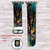 Green Goblin Marvel Custom Apple Watch Band Leather Strap Wrist Band Replacement 38mm 42mm