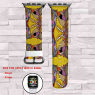 Homero Simpsons Custom Apple Watch Band Leather Strap Wrist Band Replacement 38mm 42mm